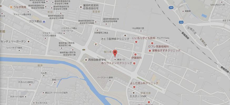 ホームページ制作会社S&C郡山アクセスマップ